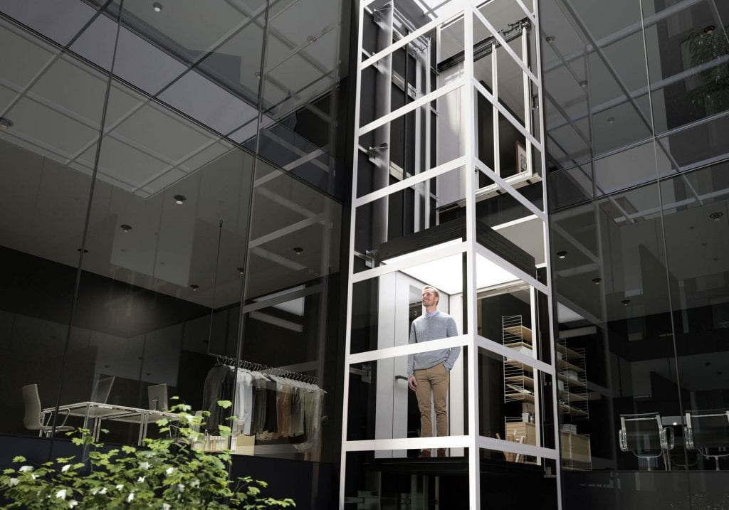 Office Lift with Glass Cabin